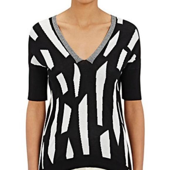 NWT Zero + Cornejo Lla Rib Knit Contrast Sweater